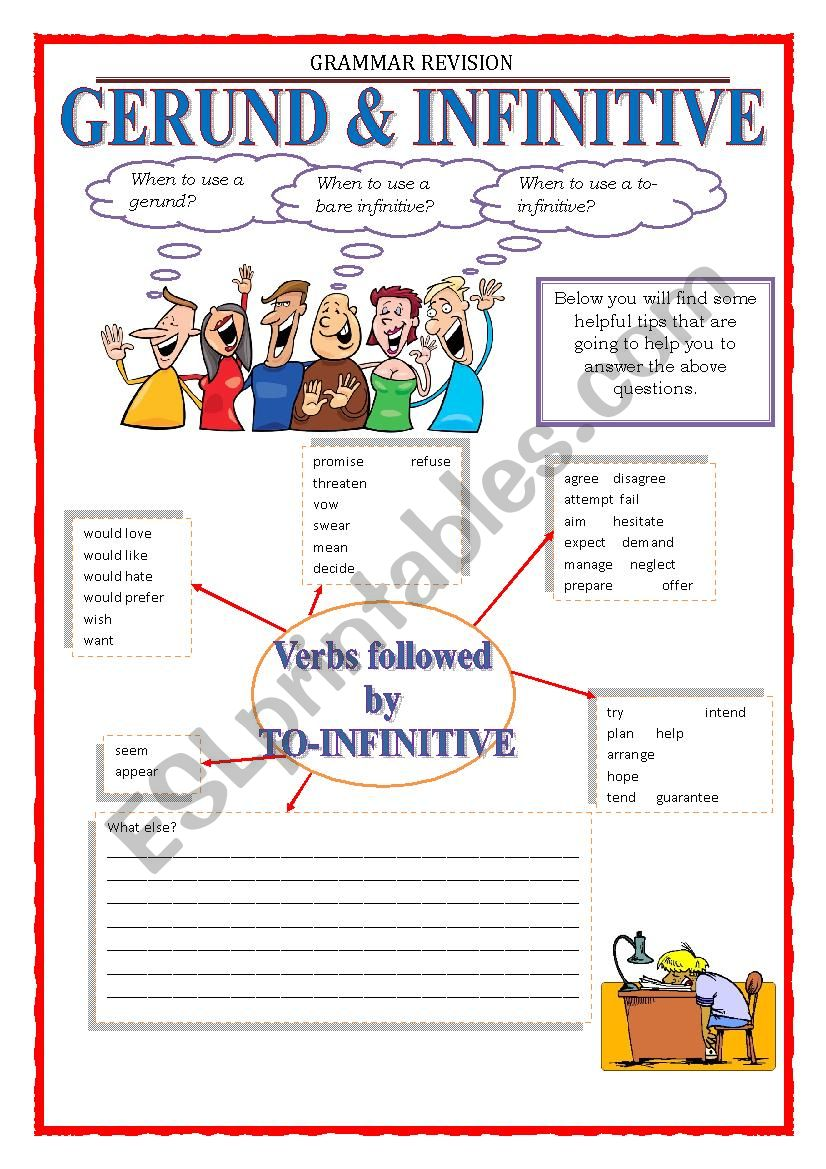 GRAMMAR REVISION - GERUND & INFINITIVE part 1