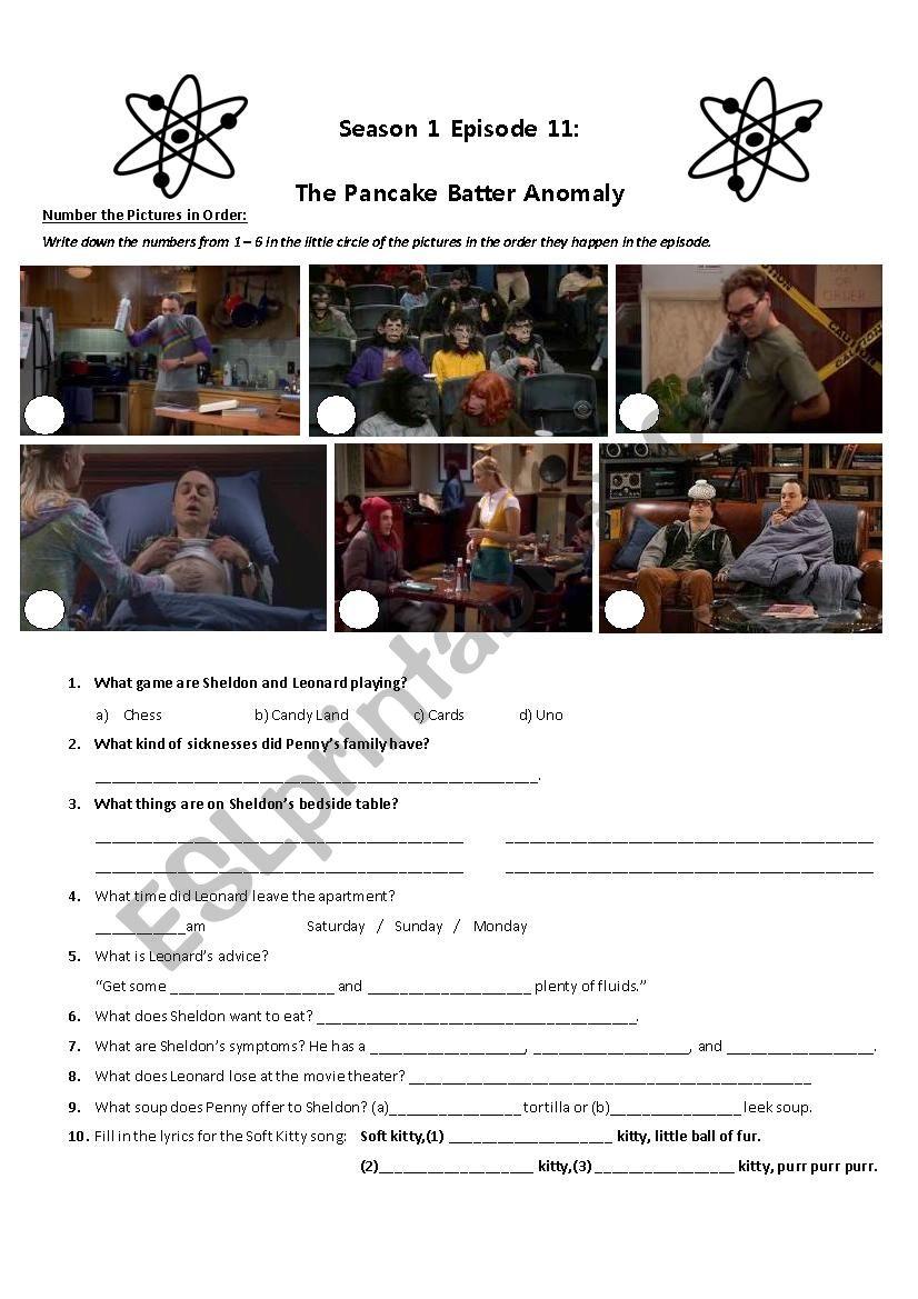 The Big Bang Theory Sheldon Gets Sick S01E11