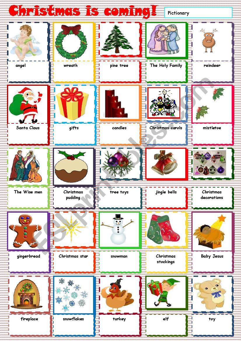 Christmas is coming worksheet