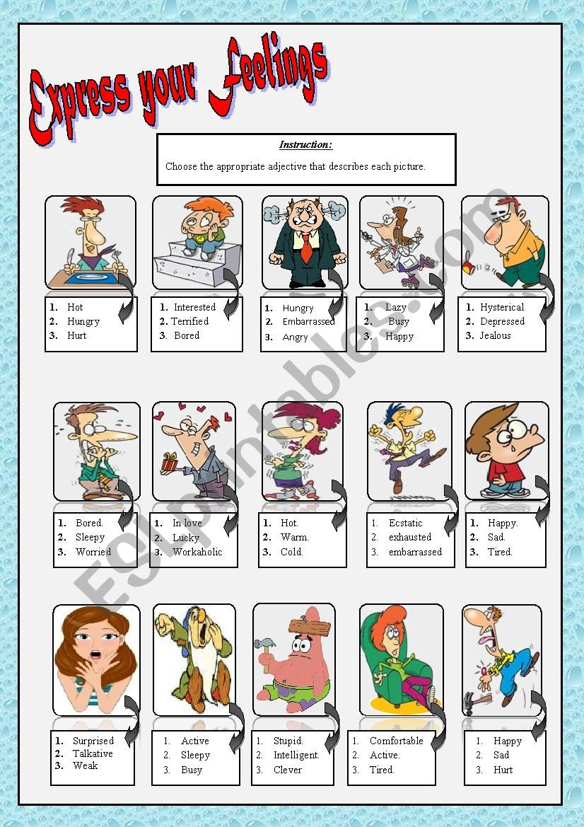 feelings and emotions worksheet