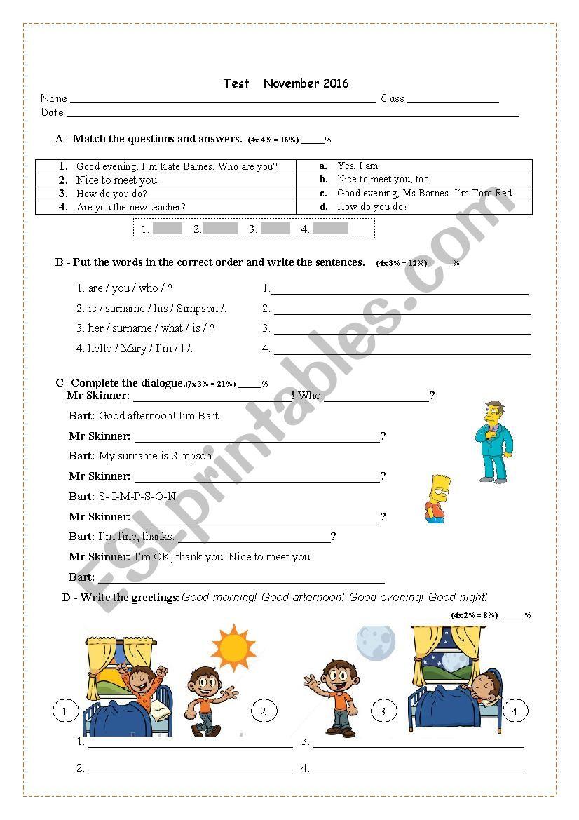 verb tobe worksheet