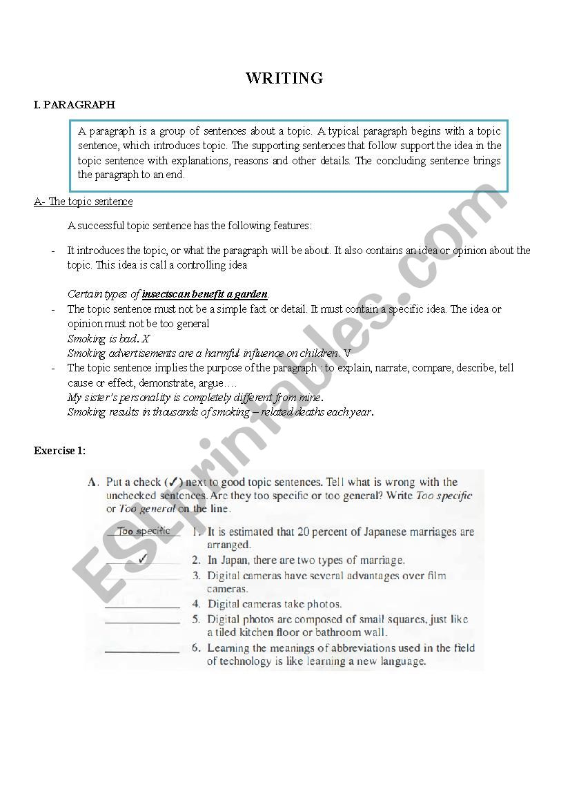 Worksheets How To Write A Paragraph Worksheet writing a paragraph esl worksheet by thutrang9492 worksheet