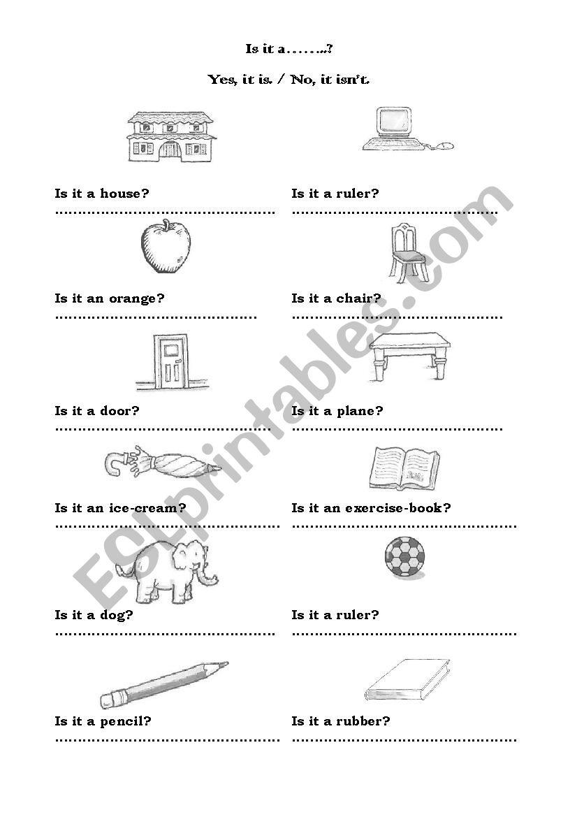 Is it a.... worksheet