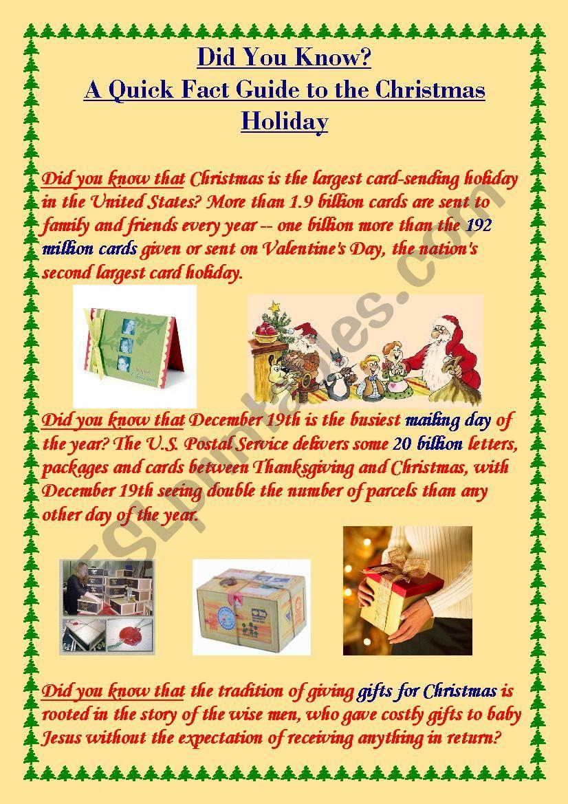 Christmas poster worksheet