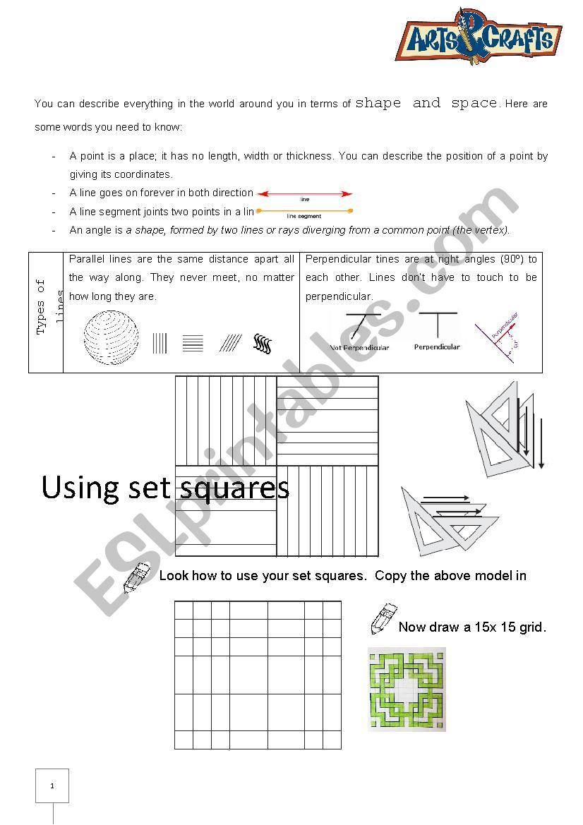 Geometric Drawing ESL Worksheet By Ainigriv