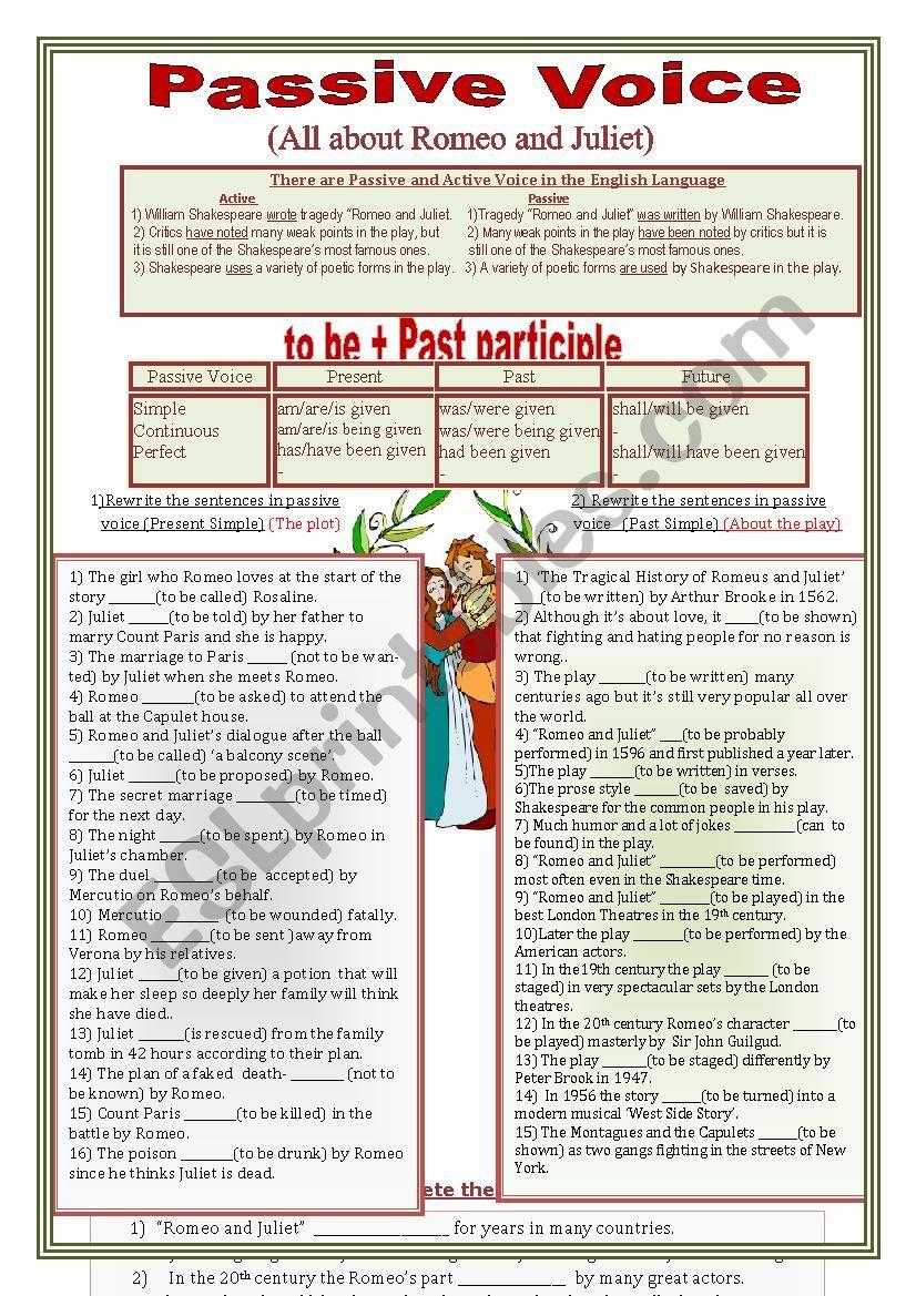 Passive Voice - ESL worksheet by savvinka