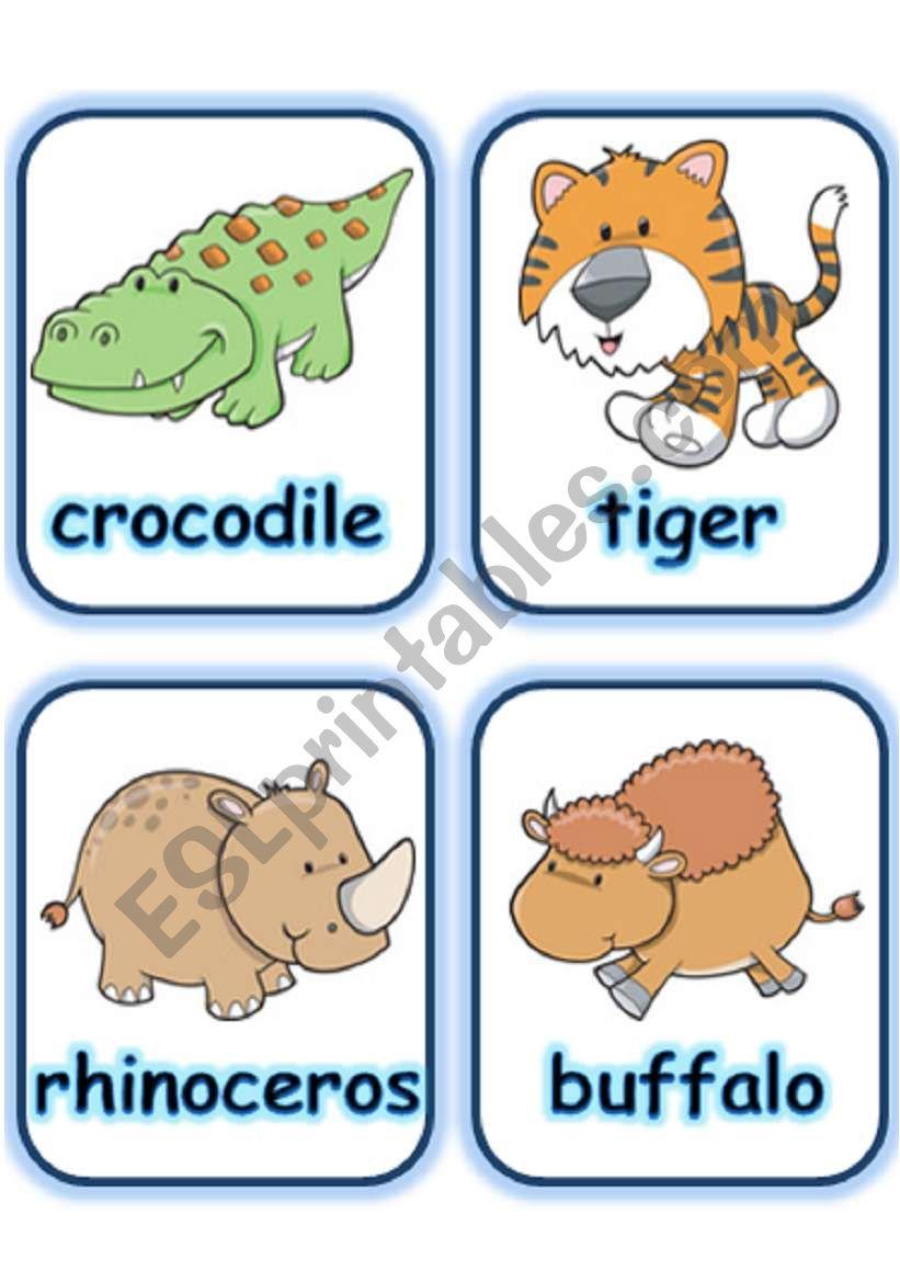 FLASHCARD SET 3- WILD ANIMALS - PART 2