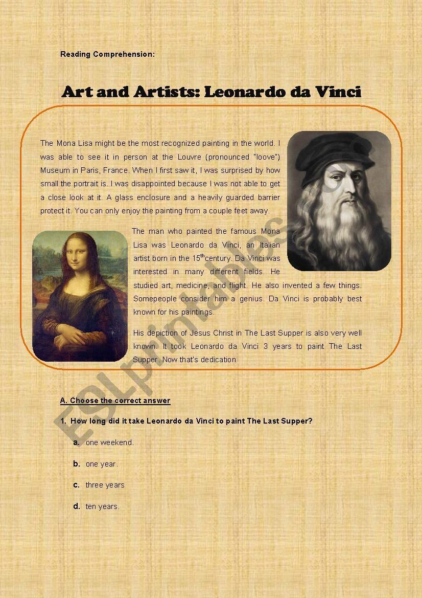 Art and Artists: Leonardo da Vinci