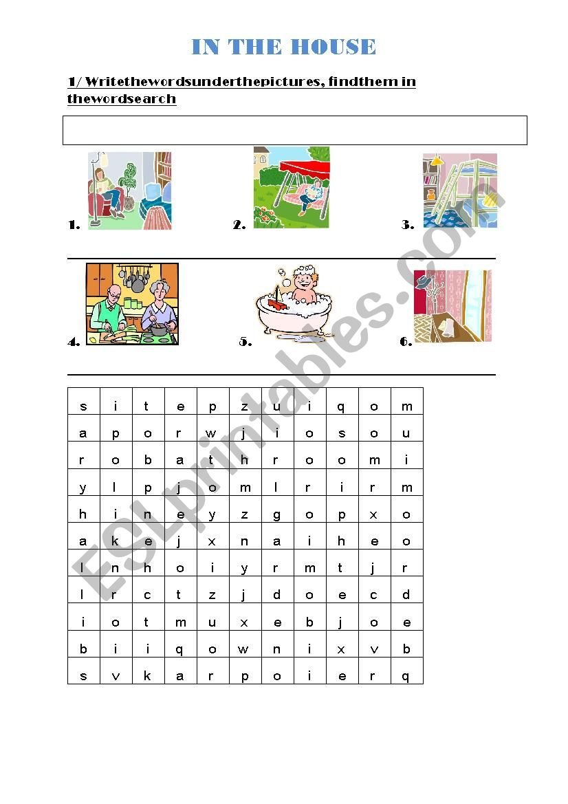 In the house - Happy House 2 worksheet