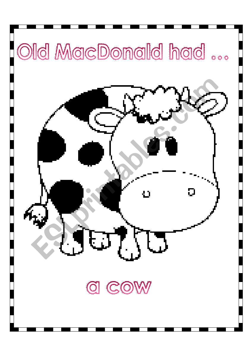 ACTIVITY -PART 1 -(4 PAGES)  RELATED TO SONG -OLD MACDONALD HAD A FARM