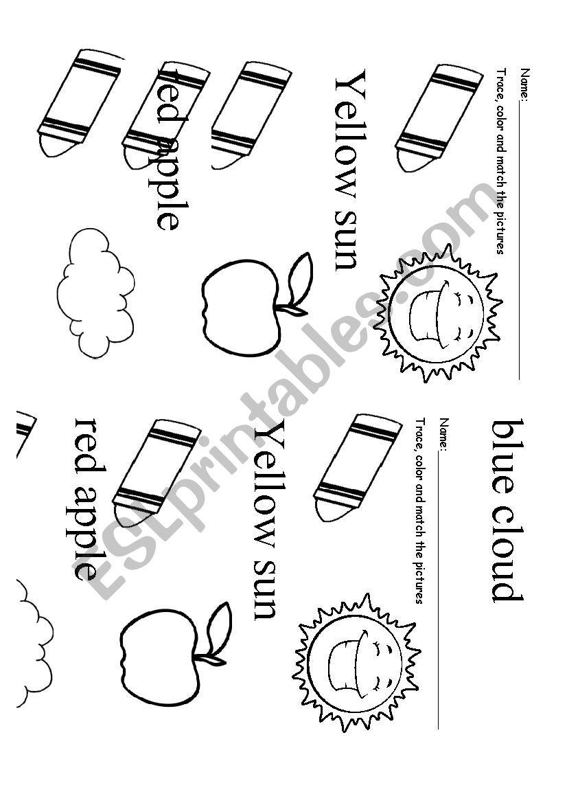 Primary colors worksheet