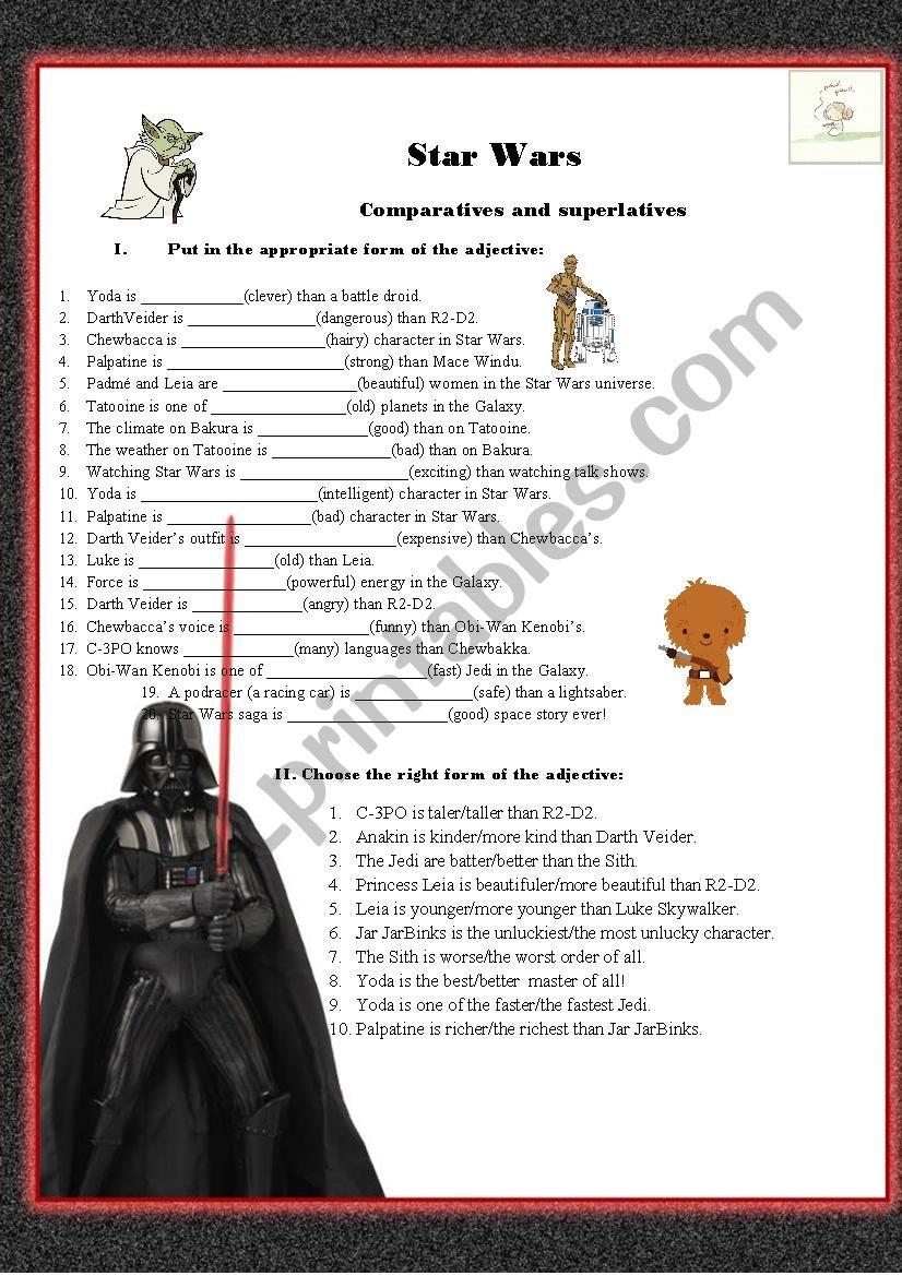 Star wars comparatives and superlatives