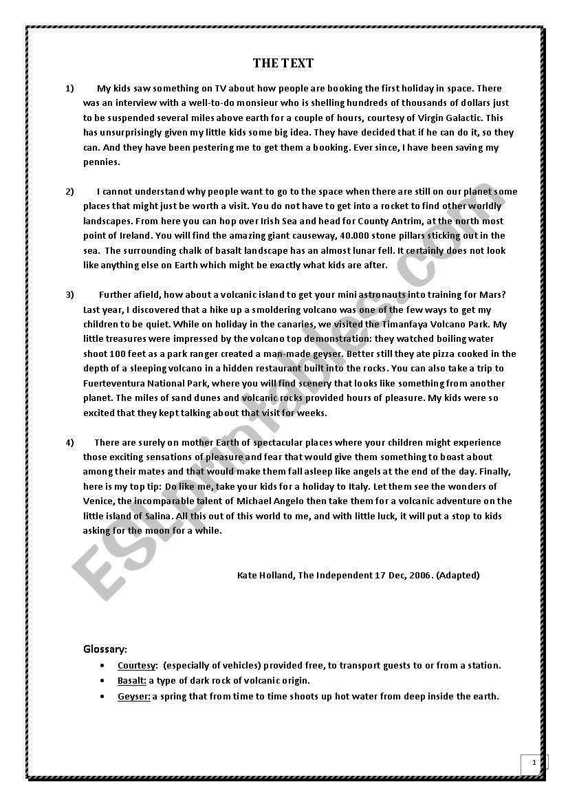 full-term test for 4form worksheet