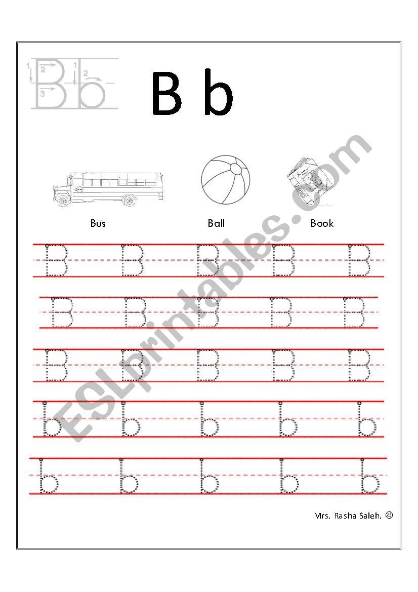 handwriting letter B-b worksheet