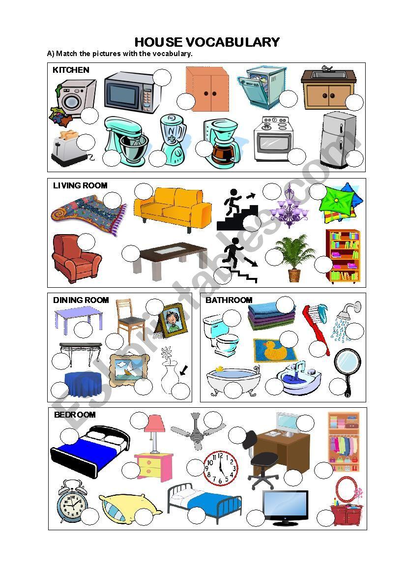 HOUSE VOCABULARY worksheet