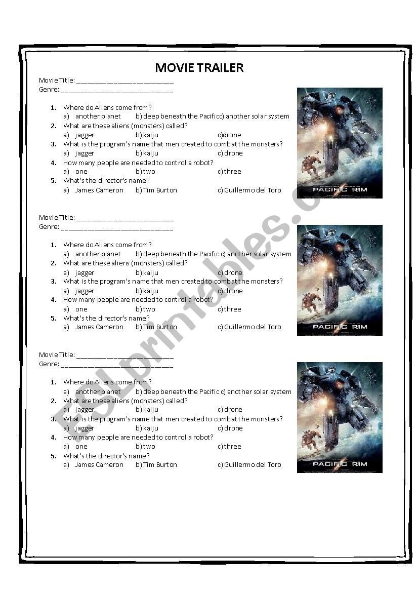 THE PACIFIM RIM worksheet