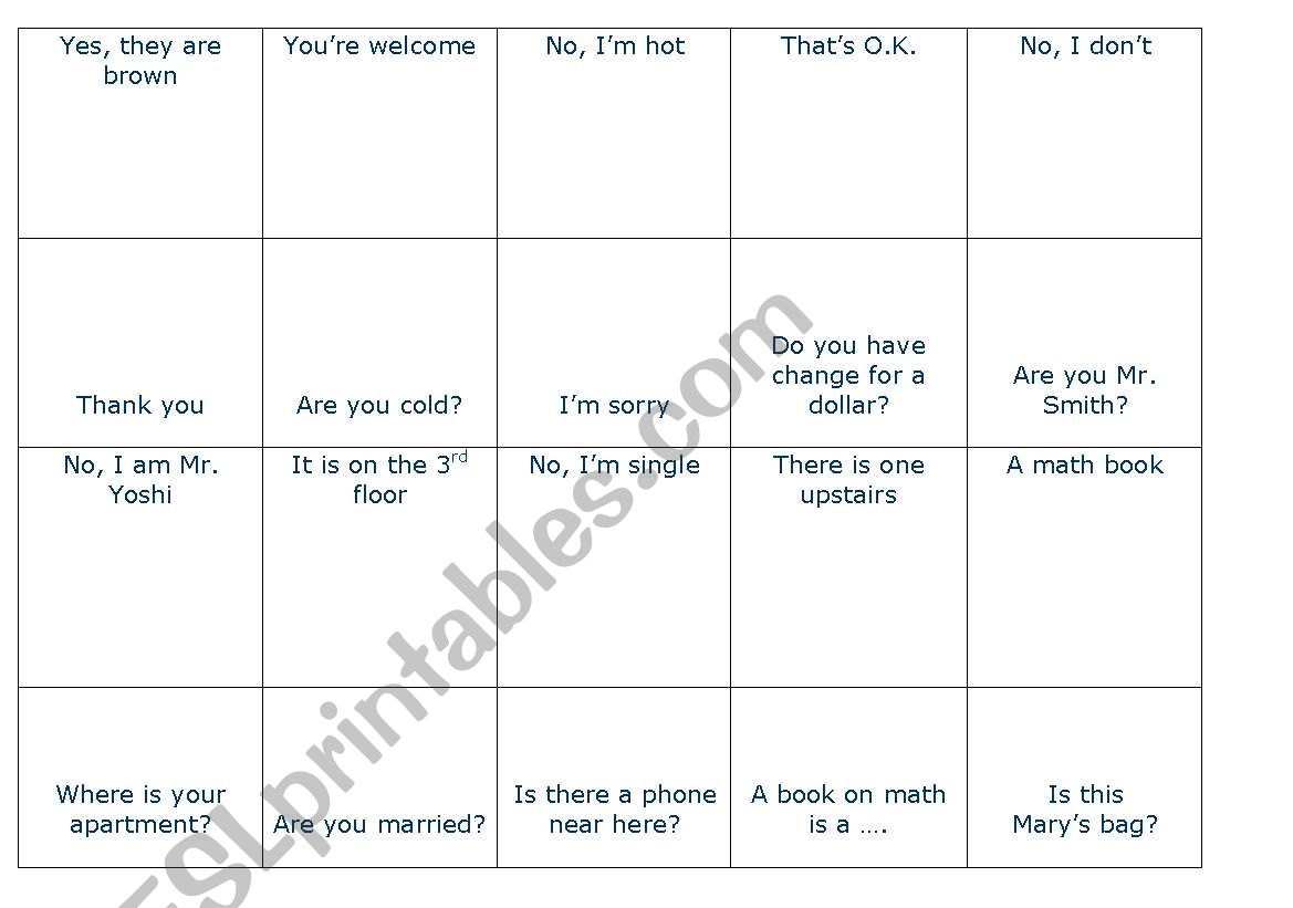 QUESTIONS AND ANSWERS DOMINO worksheet