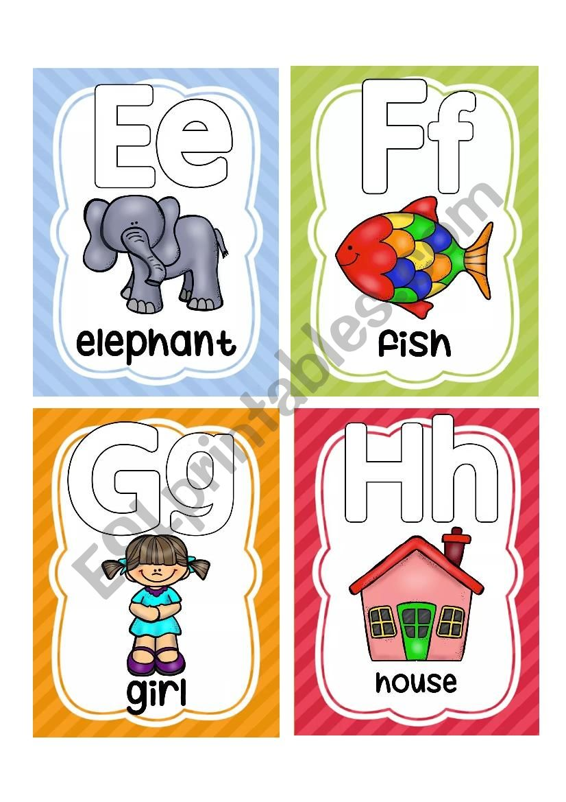 ALPHABET FLASHCARDS 2 worksheet