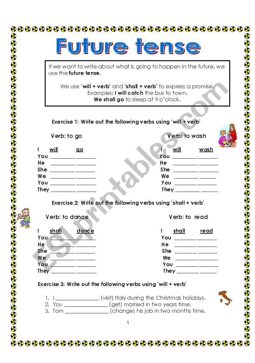 Future Tense Esl Worksheet By Maltese Primary Teacher