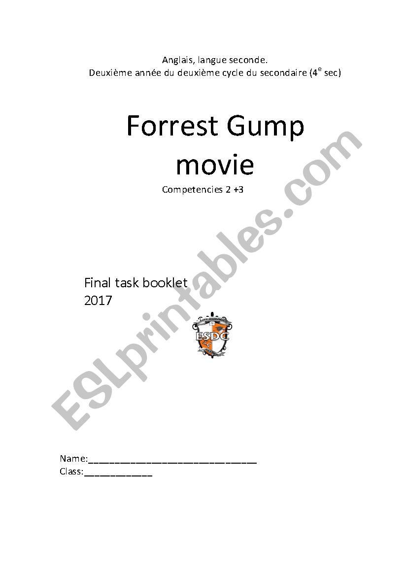forrest gump writing opinion essay   esl worksheet by isaguy forrest gump writing opinion essay