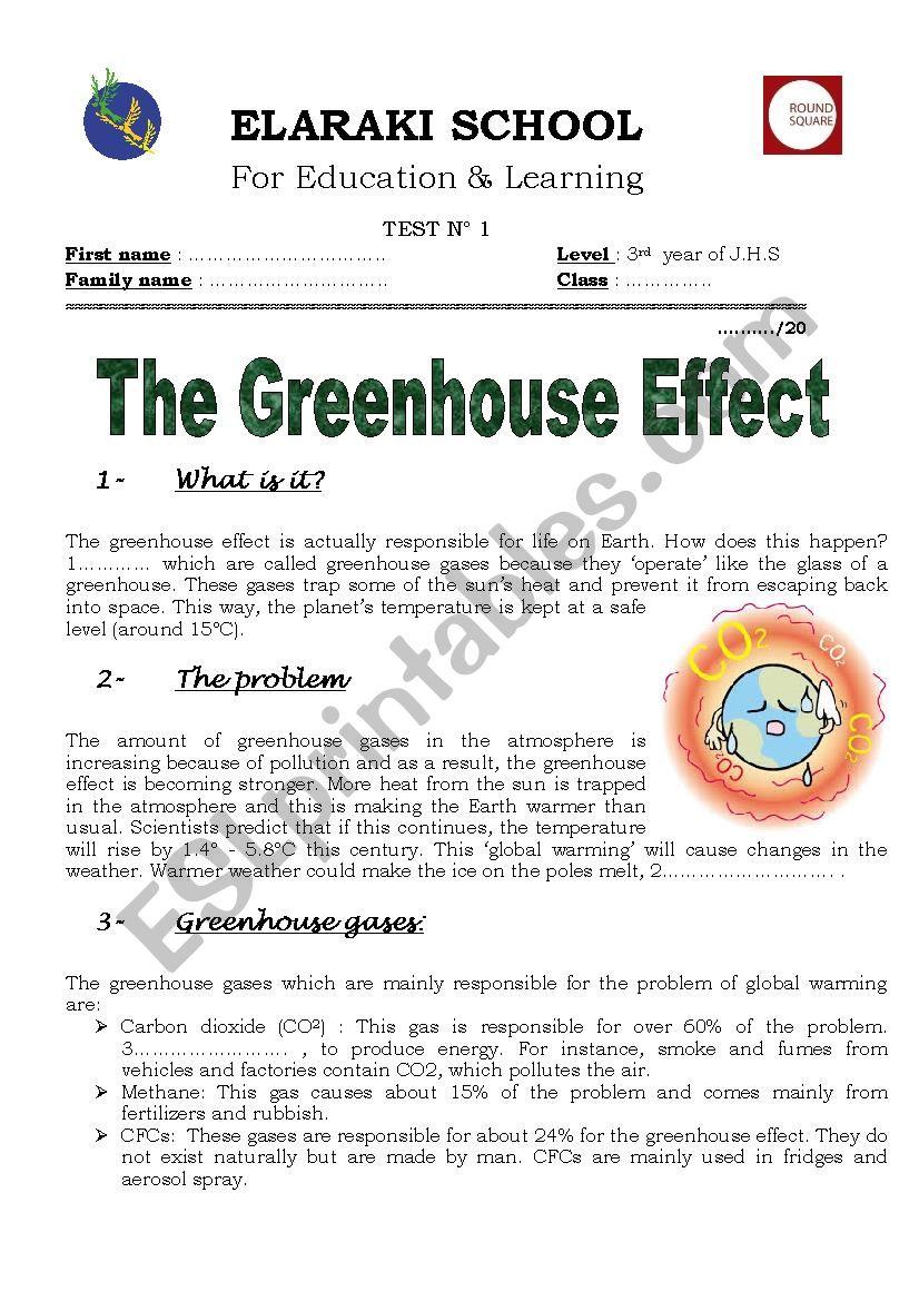 Global Warming Esl Worksheet By Joba