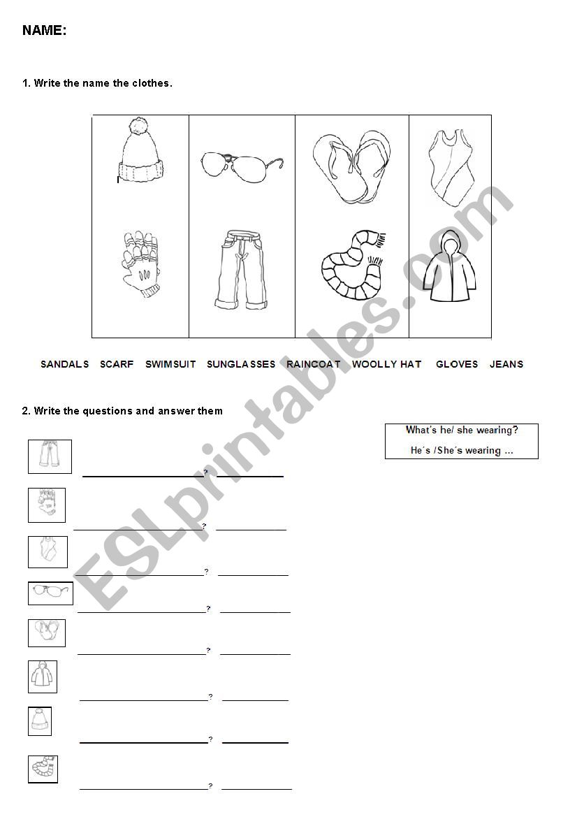 Revision Clothes Seasons And Weather Esl Worksheet By Maritereterres