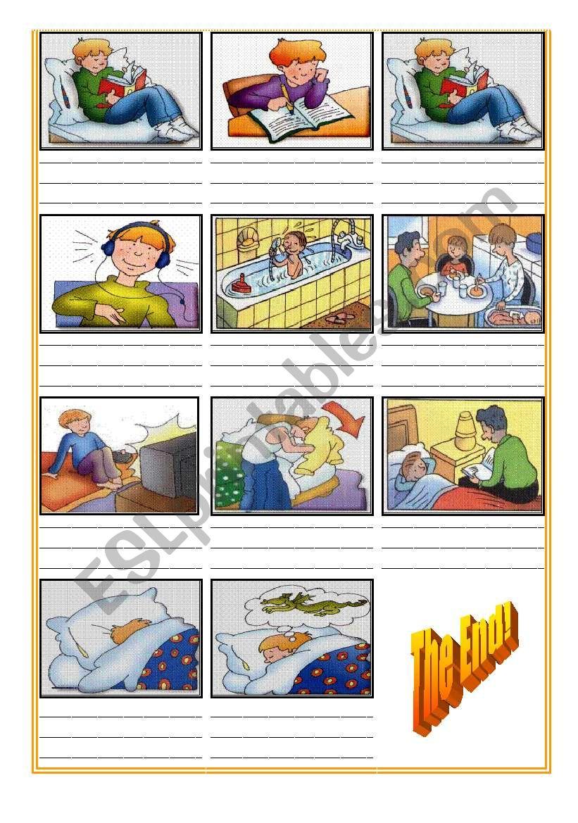 Daily Routine Cartoon (Part2) worksheet