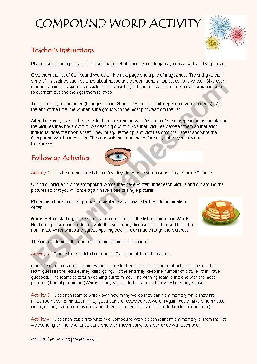 Compound Words worksheet