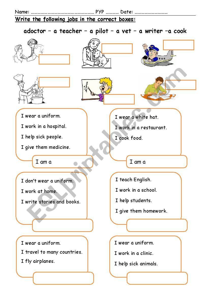 Jobs (1)  worksheet