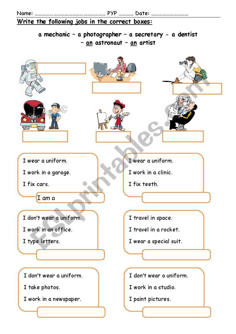 Jobs (2)  worksheet