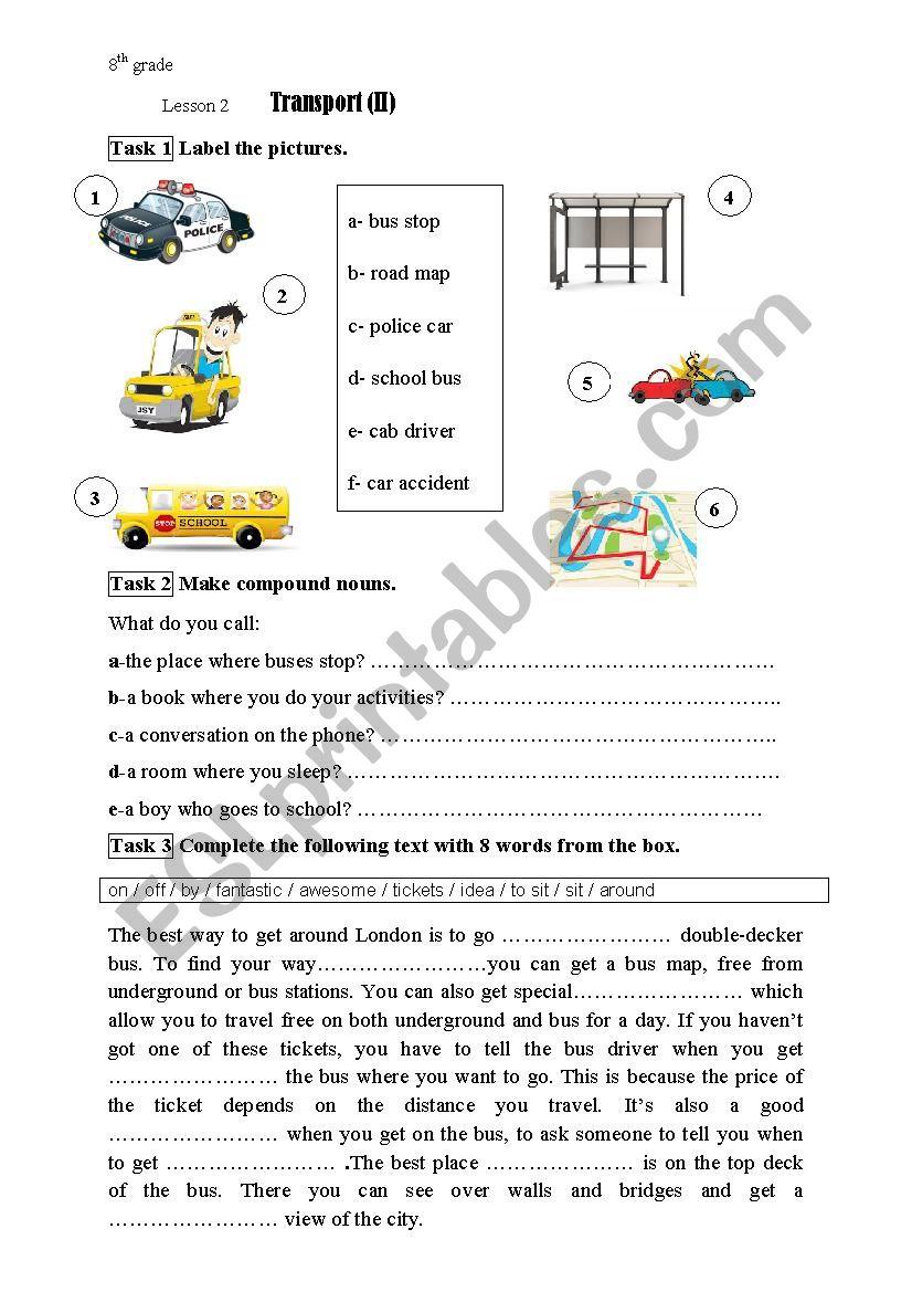 module 4 lesson 2 transport ii 8th grade esl worksheet by. Black Bedroom Furniture Sets. Home Design Ideas