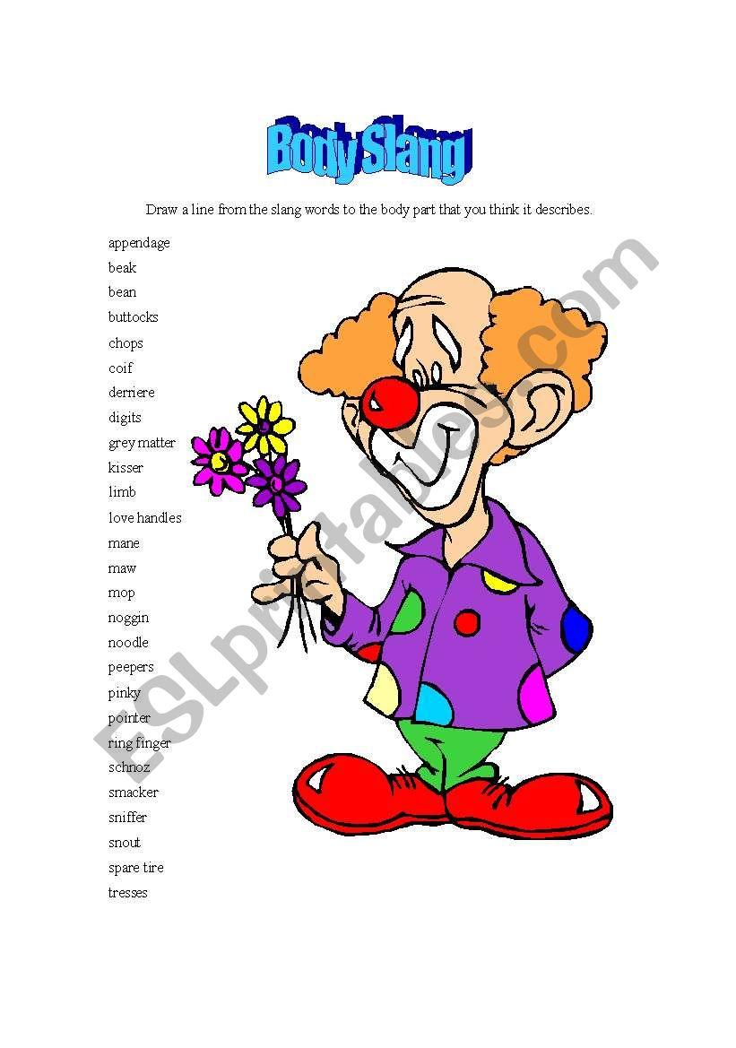 Body Slang - ESL worksheet by chonsa