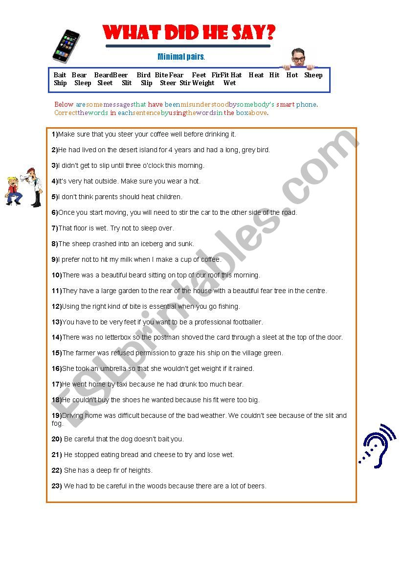 What did he say? - Minimal Pairs