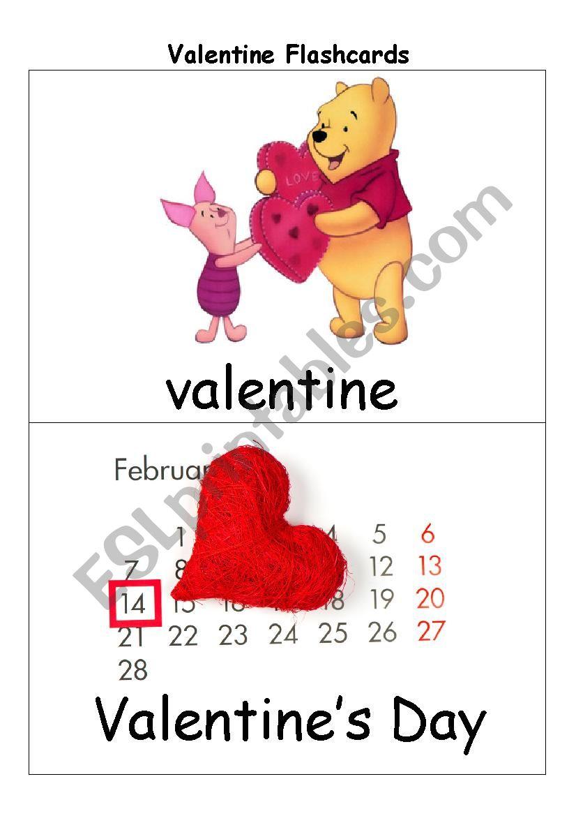valentine flashcards  esl worksheetswervie23