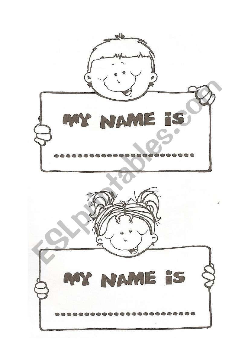 My Name Is Esl Worksheet By Xana Machado