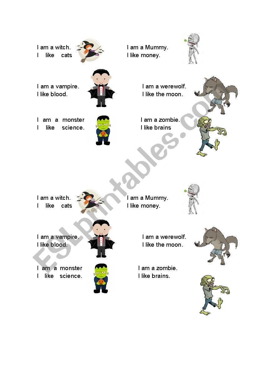Zombie Janken Game - ESL worksheet by altjamessmith