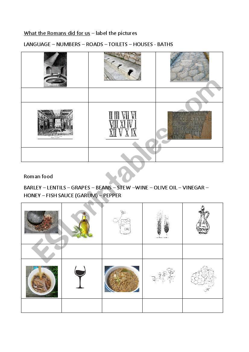 Ancient Rome worksheet