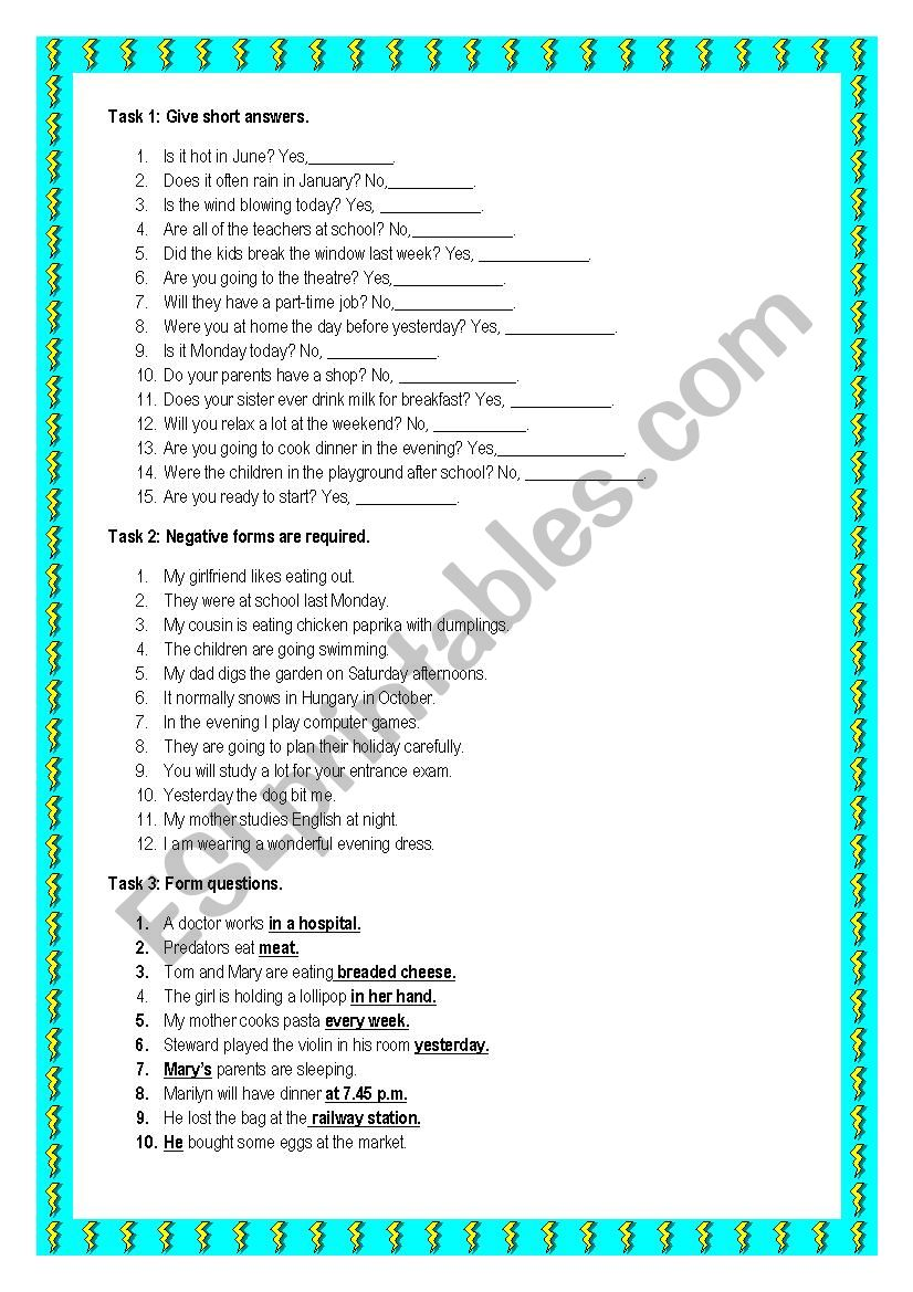 Mixed grammar for elementary learners