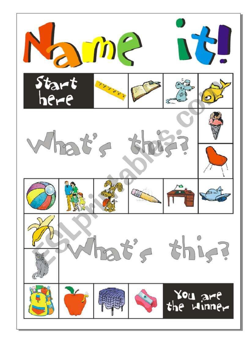 Game: Name it! worksheet