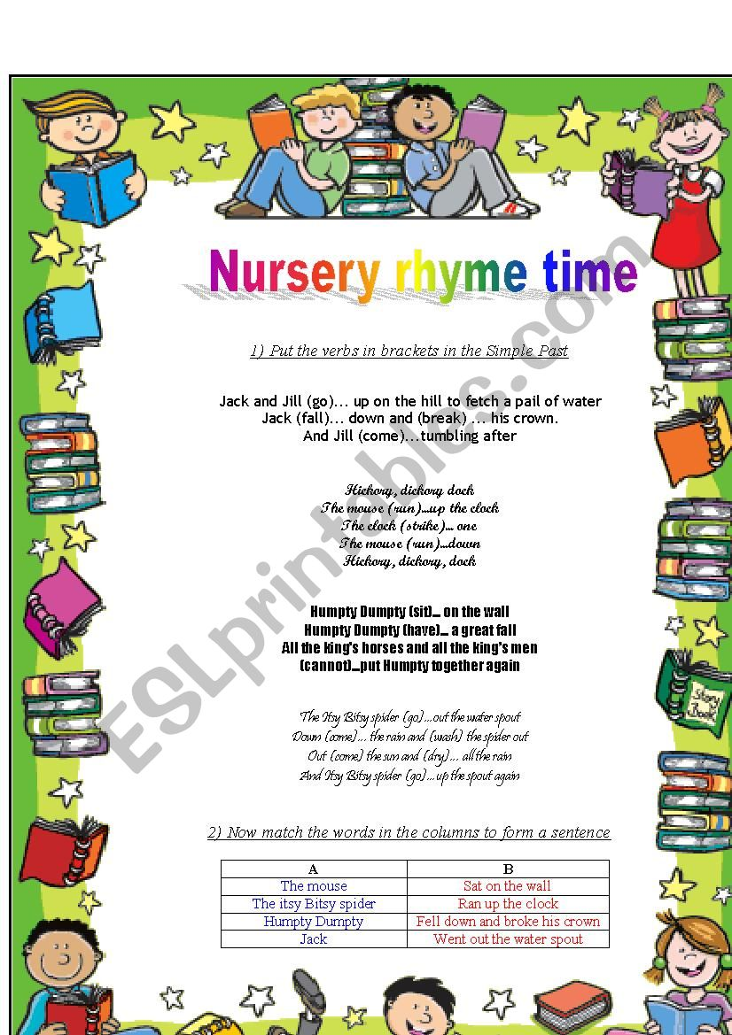 Nursery Rhymes worksheet