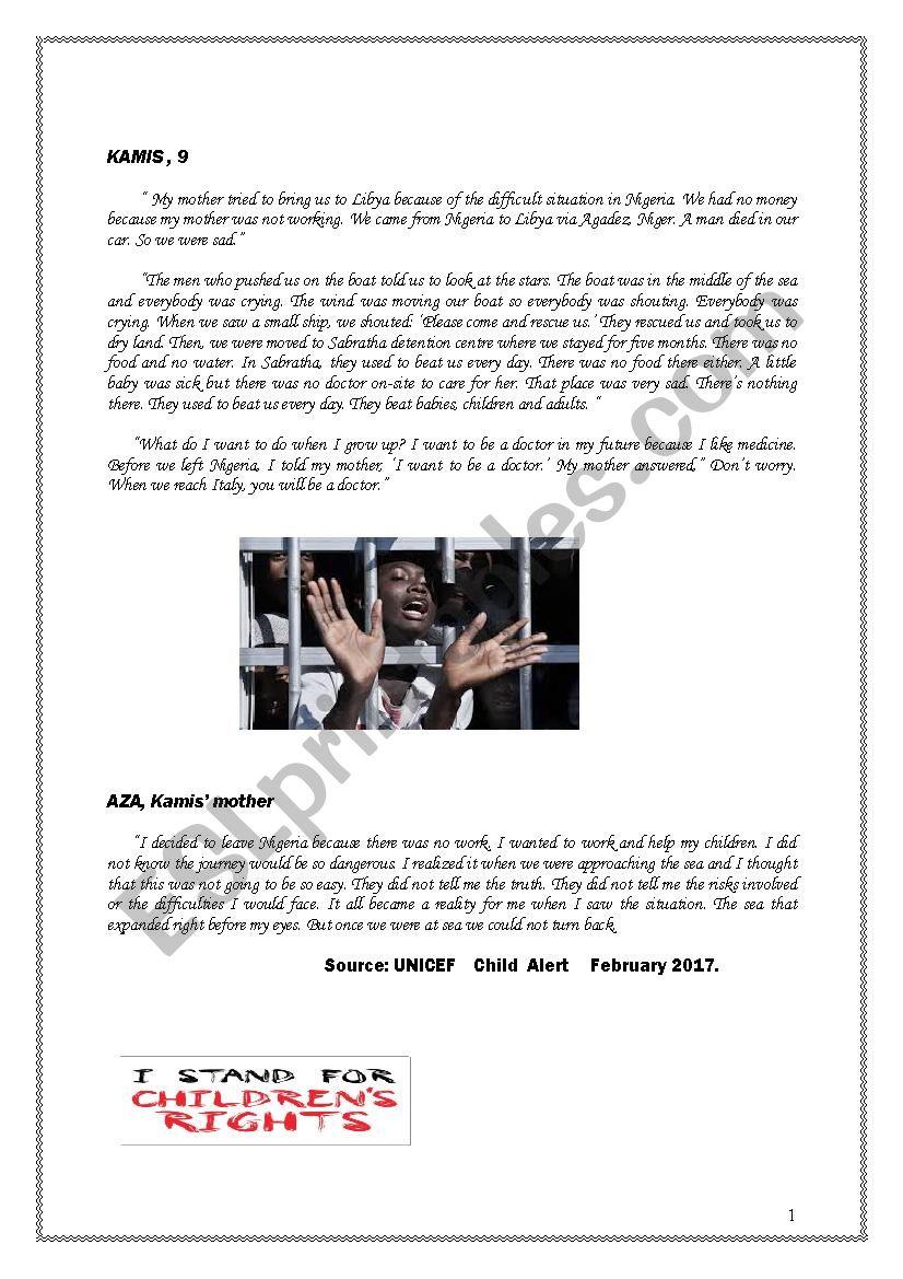 global test n°2 worksheet