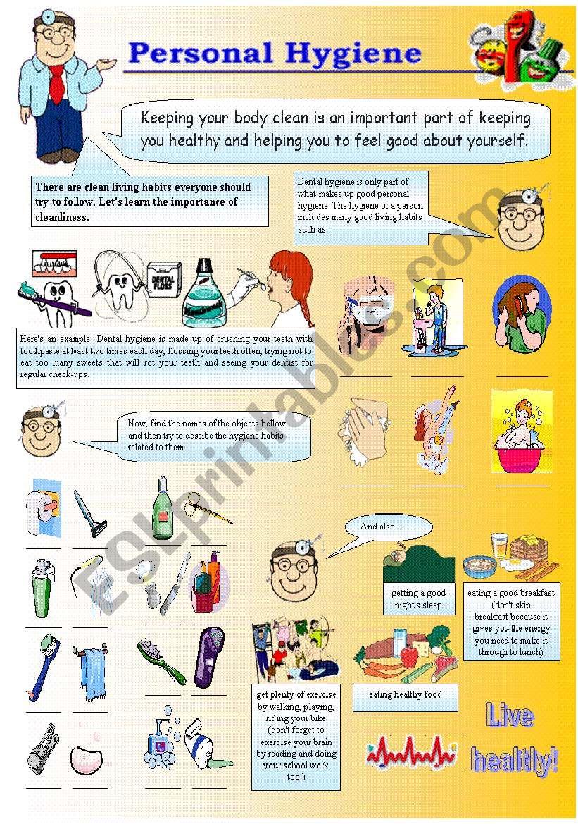 Personal Hygiene worksheet