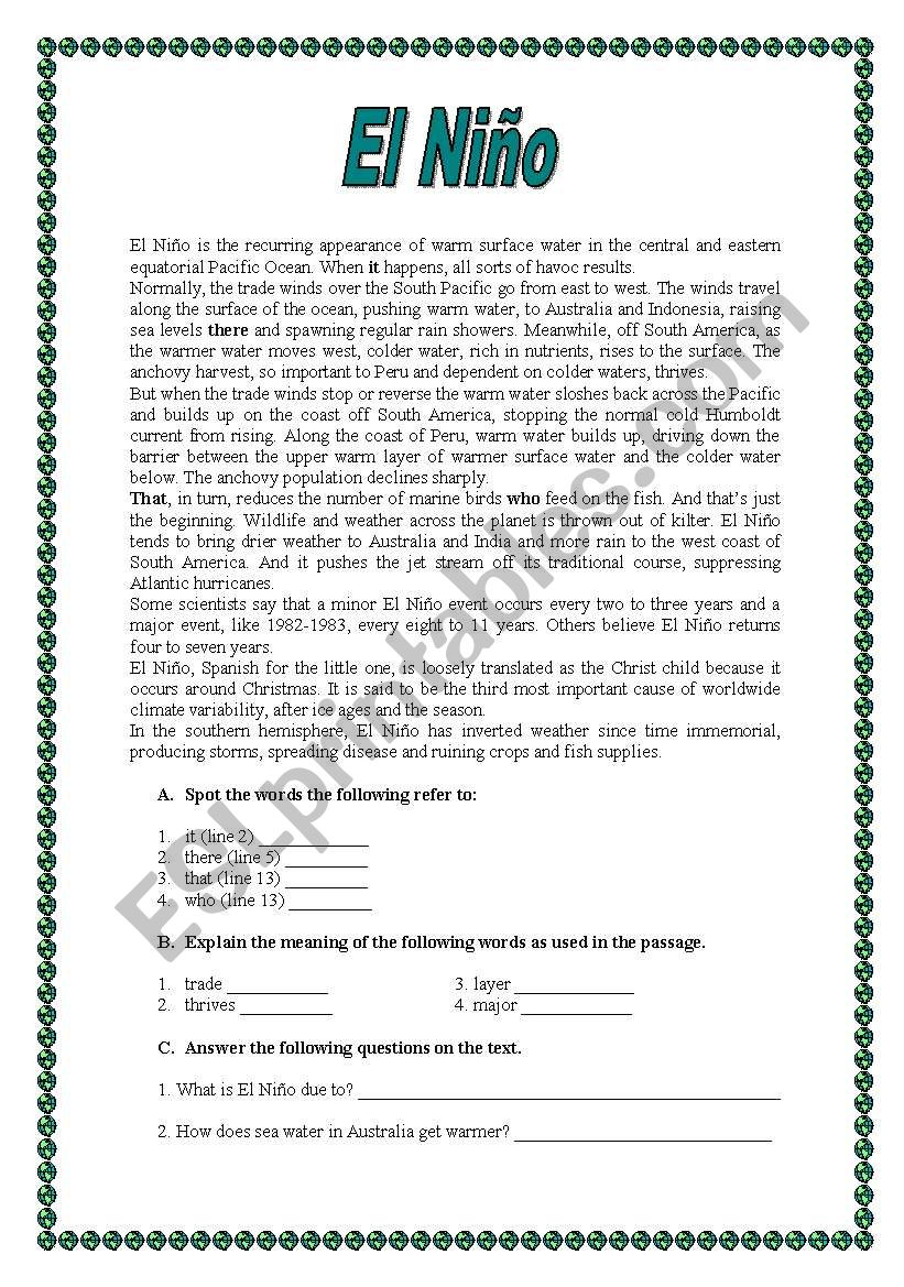 English written test - ESL worksheet by manuelanunes3