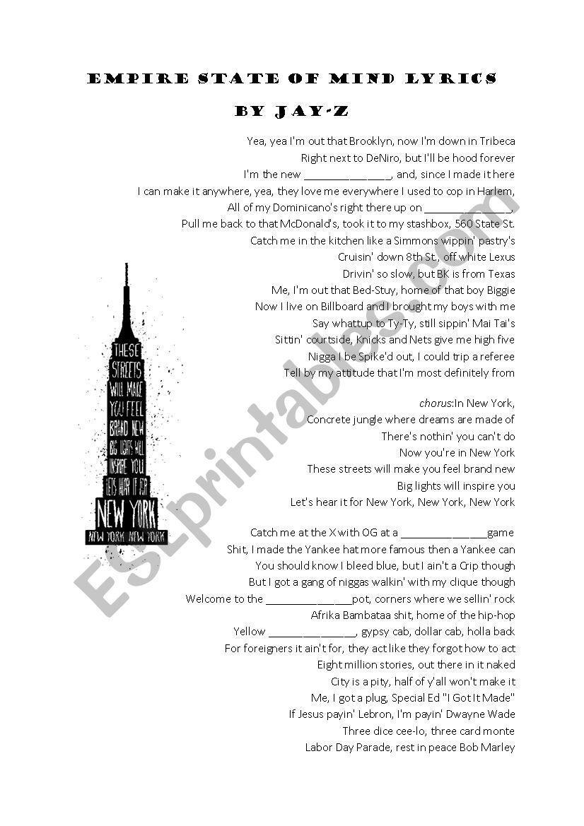 Frank sinatra new york lyrics