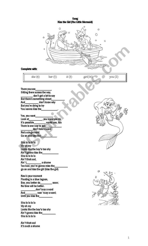 little mermaid lyrics - HD838×1389