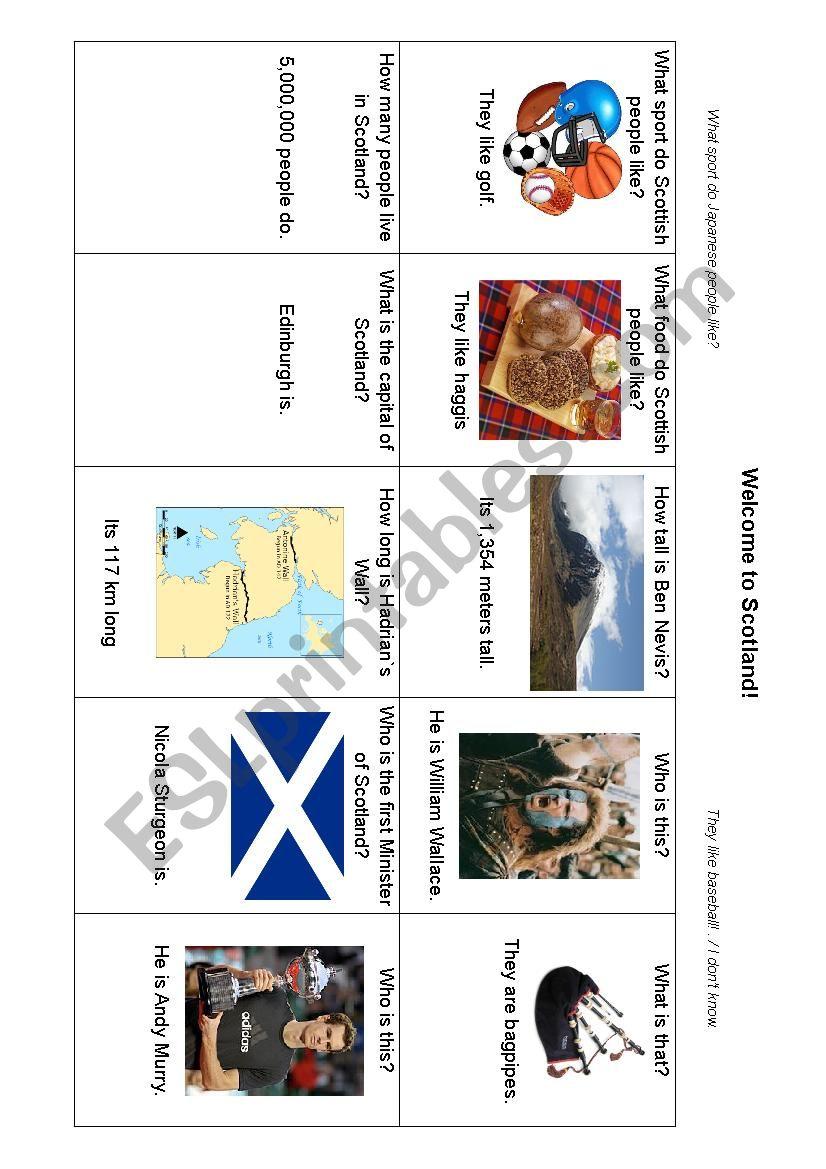Quiz about Scotland 2017 worksheet