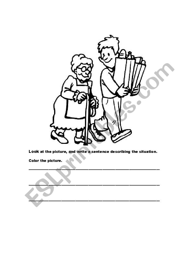 helping others - ESL worksheet by afafazibi