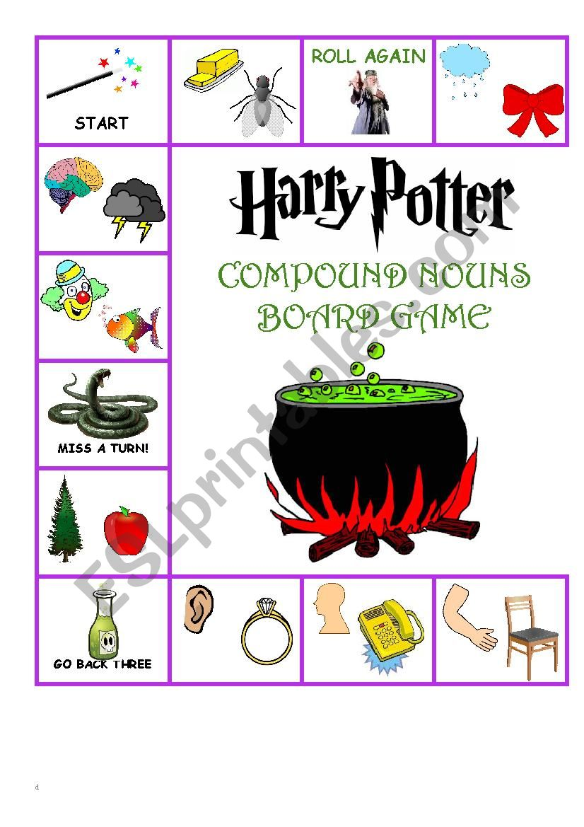 Harry Potter Compound Word Board Game