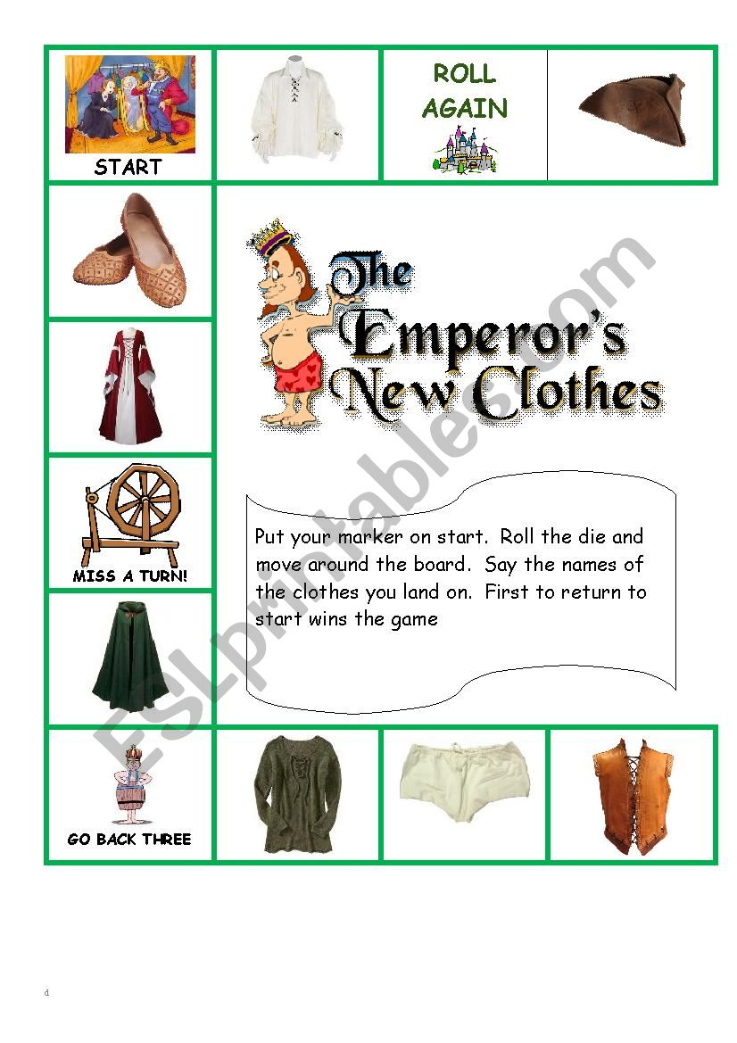 Emperor´s New Clothes Board Game
