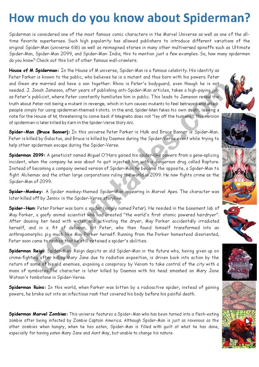 HOW MUCH DO YOU KNOW ABOUT SPIDERMAN?